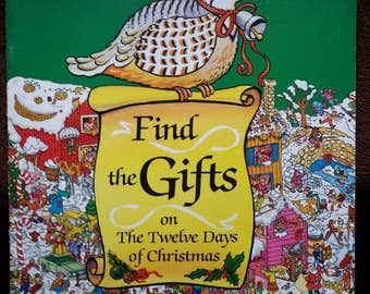 Find the Gifts on The Twelve Days of Christmas Book