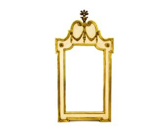 La Barge Mirror, Italian Florentine Mirror, Hollywood Regency, Large Gilt Mirror