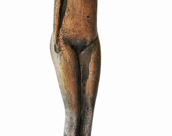 Mid-Century Abstract Bronze Sculpture