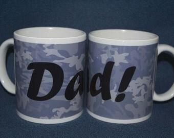Dad Blue Camouflage Mug