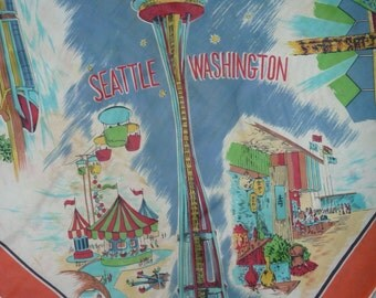 Souvenir scarf World's Fair Seattle, 1962