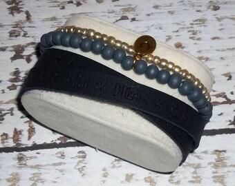 Imitation leather armbandset
