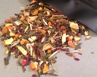 The Cleanse Loose Leaf Tea, Green Tea, Detox Tea, Caffeine Tea, Ginger, Turmeric, Peppermint, Orange, Hibiscus