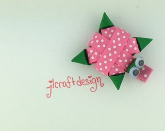 Alligator Hair Clip Turtle-Pink