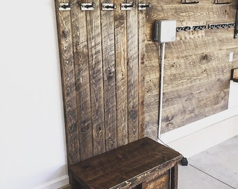 Handmade Coat Rack // Entryway locker // Mud room Hall Tree