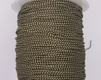 300feet Antique Brass Ball chain - 1.5mm Round BALL Chain -  Antique Bronze BALL Chain - with FREE 100 pcs of Connector