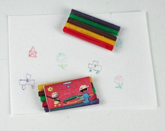 Dollhouse miniatures, 1:12 crayons in miniature for the Doll House, Doll House, collector