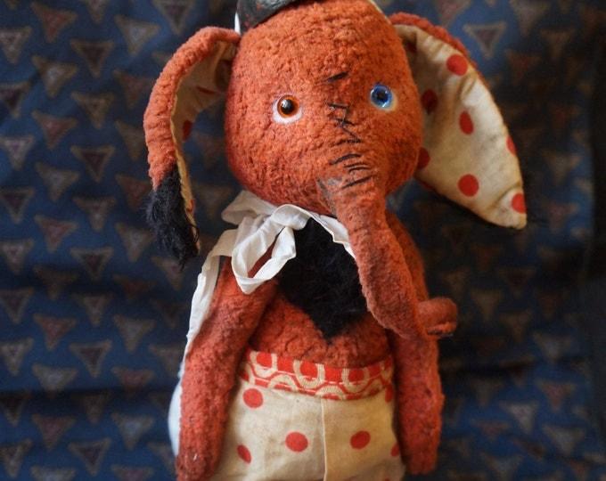 Teddy ladybug, Teddy elephant, OOAK artist Teddy Elephant, Personalized Stuffed Animal Elephant Soft Toy Teddy in clothes, lady of ladybugs