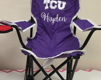 TCU Monogrammed Kids Tailgating Chair - PREORDER shipping in September
