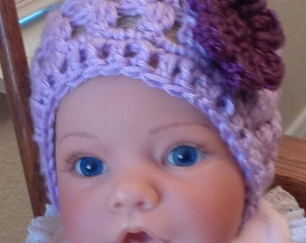 Baby Girl Hats, Crochet Hats, Infant Girl Hats, Photography Prop, Infant 2 weeks to 3 months