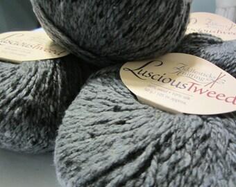 Luscious Tweed by Fiddlesticks Knitting in Cozy Grey