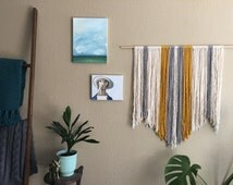 Yellow Yarn Wall Hanging