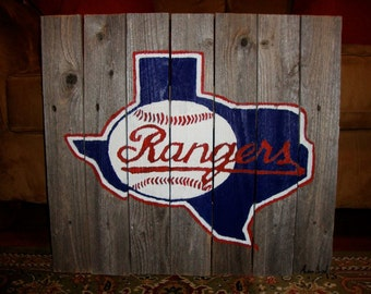 Texas Rangers Hand Painted sign