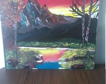 Mountain Scene canvas wall art