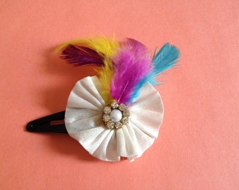 Feather on my hairclip