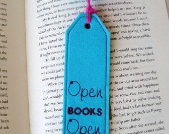Handmade embroidered bookmark