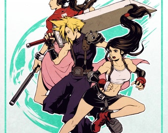 FF7 Poster (Cloud, Aeris and Tifa)