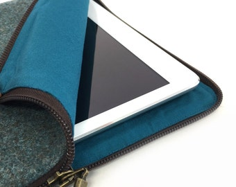 Fabric & Leather iPad Sleeve - iPad Sleeve Leather - Gift For Him - Gift For Her - iPad Sleeve - iPad Case