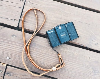 Hand made leather camera/mobile phone strap