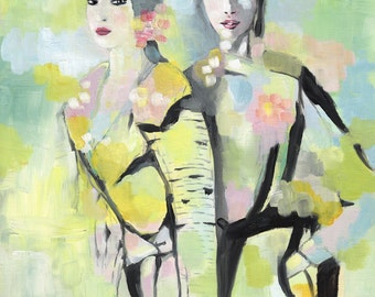 Fashion duo, fashion illustration, print