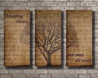 Amazing Grace Wall Decor amazing grace canvas | etsy