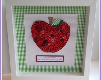 Button Picture 'Rosy Apple'