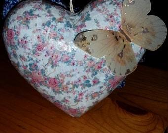 Cute floral heart