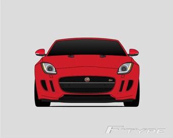 Jaguary F-Type Print