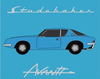 Studebaker Avanti Art // Raymond Loewy // Classic Car // Studebaker Art