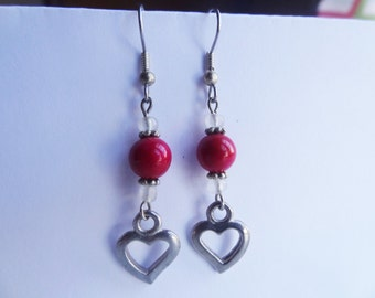 Valentine's Heart Charm Earrings