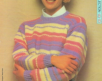 Ladies Sweater, Crochet Pattern. PDF Instant Download.
