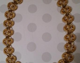 Vintage Napier gold bib necklace
