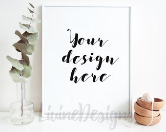Mock Up Styled Stock Photography Minimalist Frame Instant Download