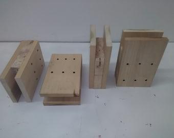 bed risers for college dorm room 4 inch all wood. Black Bedroom Furniture Sets. Home Design Ideas