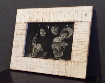 White rustic photo frame