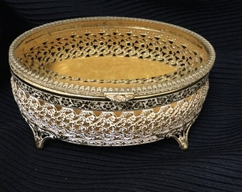 Vintage Filigree Jewelry Box