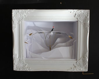 Taking Flight. Paper Cut Kinetic Sculpture.