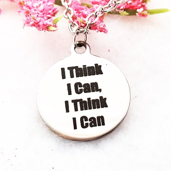 CrossFit Jewelry, CrossFit Charm Necklace. Fitness Charms, Motivational Quotes Charms, The Little Engine That Could, Inspirational Words