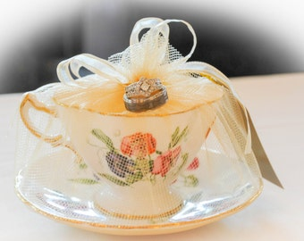 Teacup,candle,vintage,wedding