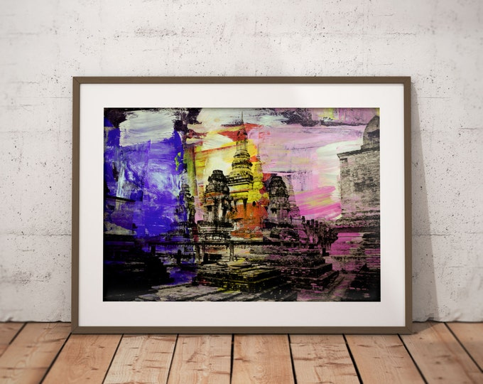 Ancient Asia X by Sven Pfrommer - Artwork is ready to hang with a solid wooden frame