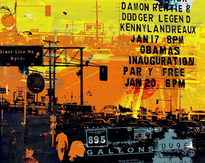 LOS ANGELES XI by Sven Pfrommer - 100x100cm Artwork is ready to hang.