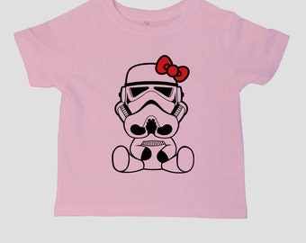 Star Wars Hello Kitty Storm Trooper Kids Toddler T-SHIRT