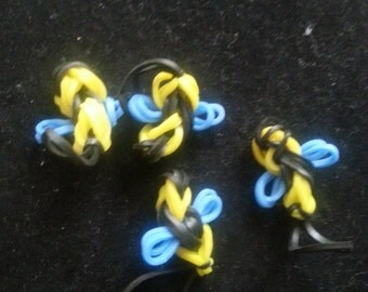 Rainbow Loom Charms: Busy Little Bubblebee