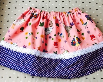 Let's bird about' toddler skirt