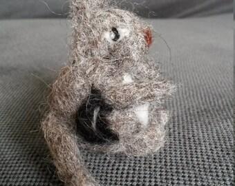 Needle felted chipmunk