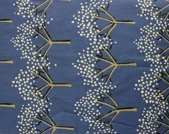 Half yard - Designer Unknown - Blue Gray Background - Trees