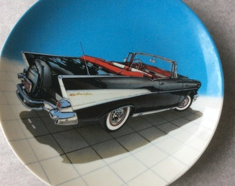 57 Bel Air Black and White Delphi Collector Plate 5 Dream Machines by Philip Palma 1989 Milestone Car Society