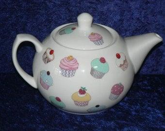 Cupcakes 2 cup or 6 cup teapot cupcakes design