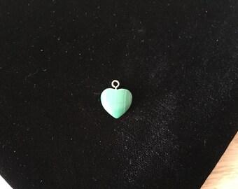 Vintage Heart Pendant, Green