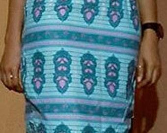 Ankara Women's sheath dress open back